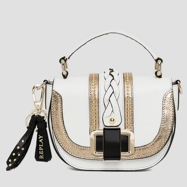 Leather handbag with golden details - Replay FW3681_001_A3158_001_1