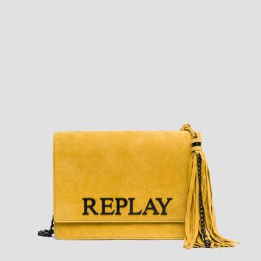 Suede leather shoulder bag - Replay FW3788_000_A3054_159_1
