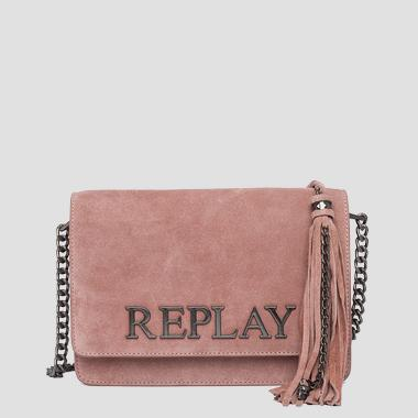 Shoulder bag in suede with tassel - Replay FW3788_009_A3154_238_1