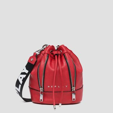 Eco-leather bucket bag with zipper - Replay FW3802_000_A0362_260_1