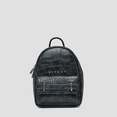 Eco-leather backpack with printed cocco effect - Replay FW3809_000_A0292C_098_1