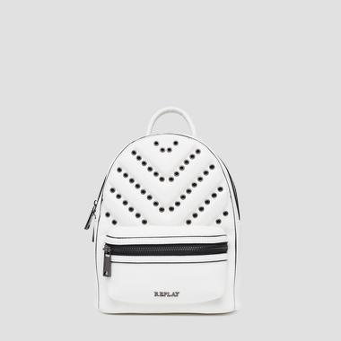 3D effect backpack with metal details - Replay FW3821_000_A0132D_001_1