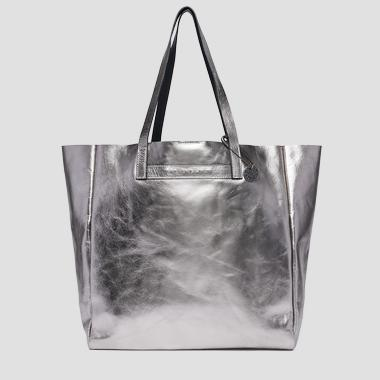 Laminated leather shopper bag - Replay FW3828_002_A3120C_078_1