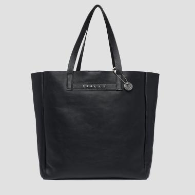 Leather shopper bag with faded effect - Replay FW3828_003_A3127_098_1