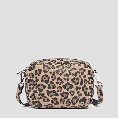 Animalier crossbody bag in suede - Replay FW3829_001_A3054A_1216_1