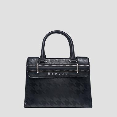 Eco-leather bag with print - Replay FW3864_000_A0362A_098_1
