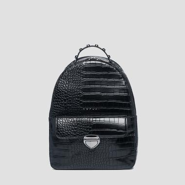 Eco-leather backpack with crocodile effect - Replay FW3890_000_A0292D_098_1