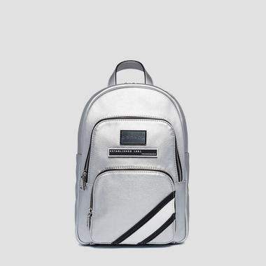 Eco-leather backpack with zipped pockets - Replay FW3923_000_A0363B_036_1