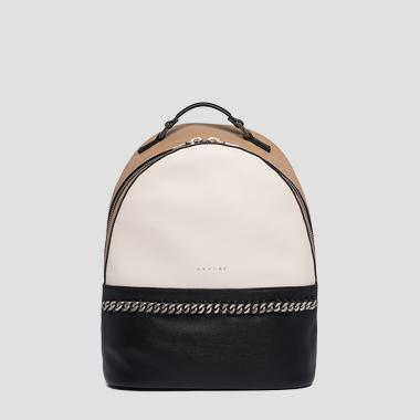 Backpack in hammered eco-leather - Replay FW3930_000_A0737_1317_1