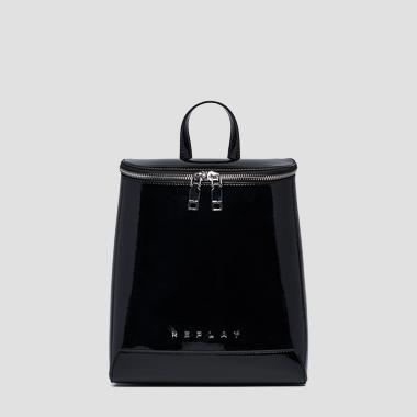 Backpack with shiny effect and zipper - Replay FW3948_000_A0023_098_1