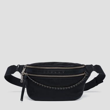 Leather waist bag with chain - Replay FW3955_000_A3127C_098_1
