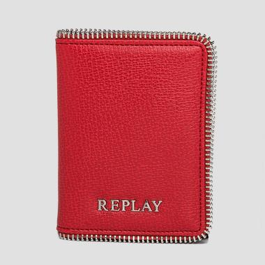 Saffiano faux leather card holder - Replay FW5143_000_A0283_268_1
