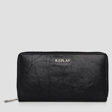 Leather wallet with zip detail - Replay FW5150_000_A3156_098_1