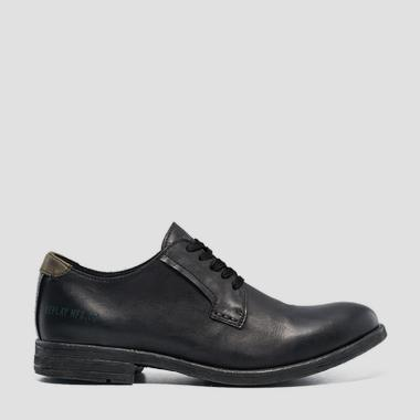 Men's DERBY lace up leather shoes - Replay GMC84_000_C0007L_003_1