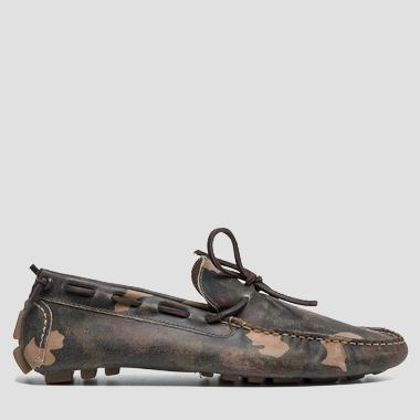 TREST men's camouflage moccasins - Replay GMM05_000_C0003L_765_1