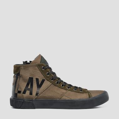 Men's BASKIN lace up mid cut sneakers - Replay GMV76_000_C0025T_2076_1