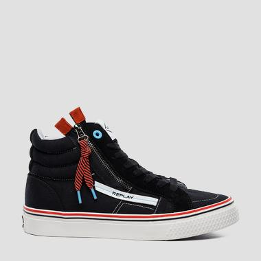 Men's HIGH DOUBLE mid cut sneakers - Replay GMV97_000_C0002T_003_1