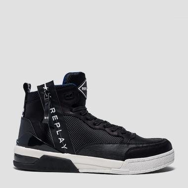 Men's MISSION lace up mid cut sneakers - Replay GMZ1R_000_C0002S_003_1