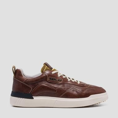 Men's BENET lace up leather sneakers - Replay GMZ2L_000_C0001L_2430_1