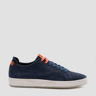 Men's WHARM lace up leather sneakers - Replay GMZ52_000_C0004L_040_1