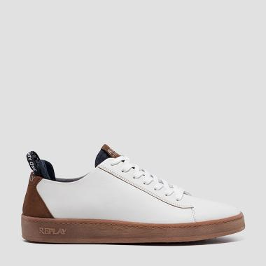Men's THORN lace up leather sneakers - Replay GMZ52_000_C0020L_2798_1