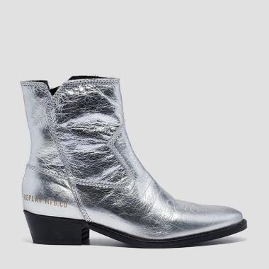 Women's SEASIDE leather ankle boots - Replay GWN57_000_C0010L_050_1