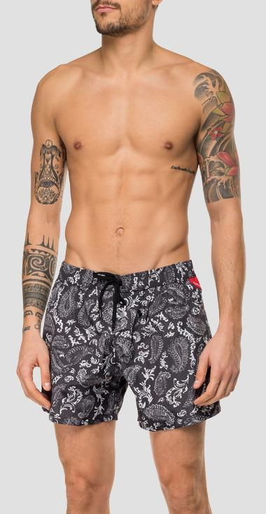 Swimming trunks with floral print - Replay LM1067_000_72076_010_1