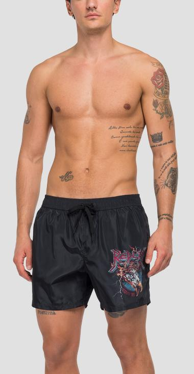 Swimming trunks with rock print - Replay LM1076_000_73438_010_1