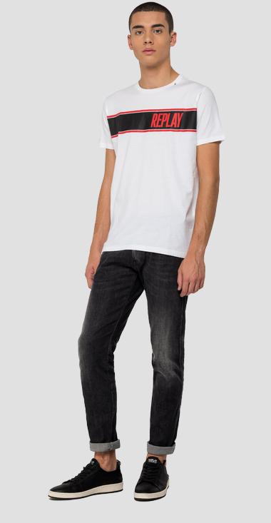 Mélange t-shirt with REPLAY print - Replay M3004_000_2660_001_1