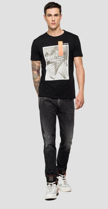 REPLAY t-shirt with beach print - Replay M3010_000_2660_098_1