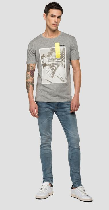 REPLAY t-shirt with beach print - Replay M3010_000_2660_M02_1