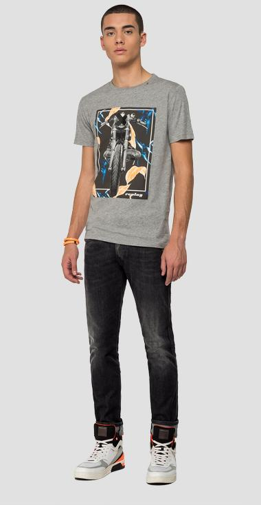 REPLAY t-shirt with motorbike print - Replay M3011_000_2660_M02_1