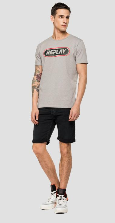 T-shirt jersey flammé REPLAY - Replay M3028_000_22336_214_1