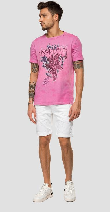 REPLAY t-shirt with tie&dye print - Replay M3041_000_22660T_010_1
