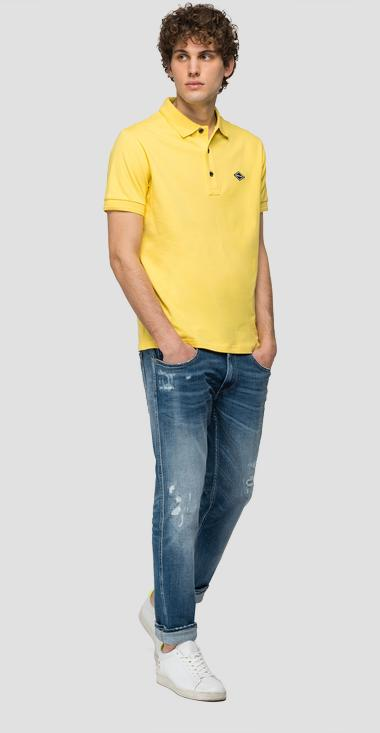 Piqué polo shirt with REPLAY patch - Replay M3073_000_20623_303_1