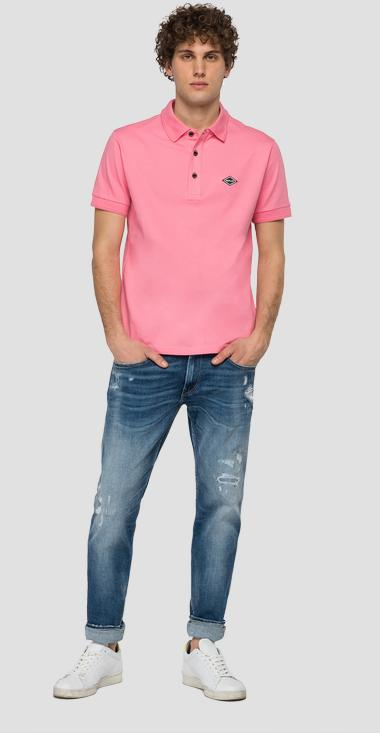 Piqué polo shirt with REPLAY patch - Replay M3073_000_20623_307_1