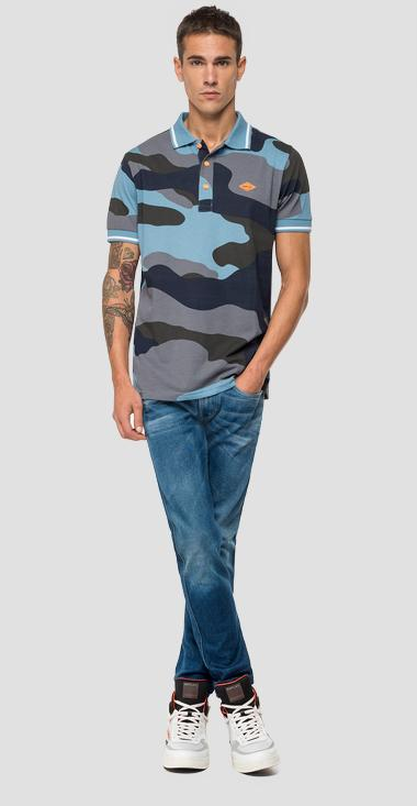 Polo shirt in camouflage cotton - Replay M3077_000_71924_020_1