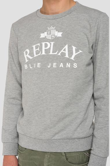 replay sweatshirt herren weiß