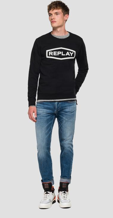 Sweatshirt with diamond and REPLAY writing - Replay M3088_000_22390P_098_1