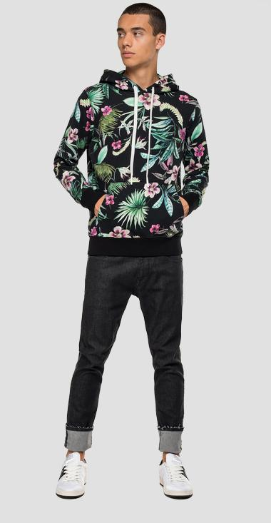 Tropical flowers hoodie - Replay M3107_000_72052_010_1
