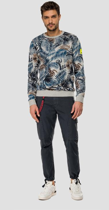 Palm trees REPLAY sweatshirt - Replay M3108_000_72060_010_1