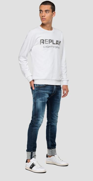 Shiny effect print sweatshirt - Replay M3112_000_22738P_001_1