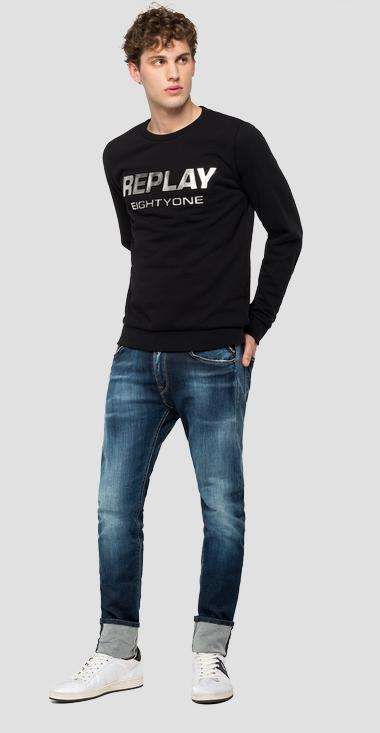 Shiny effect print sweatshirt - Replay M3112_000_22738P_098_1