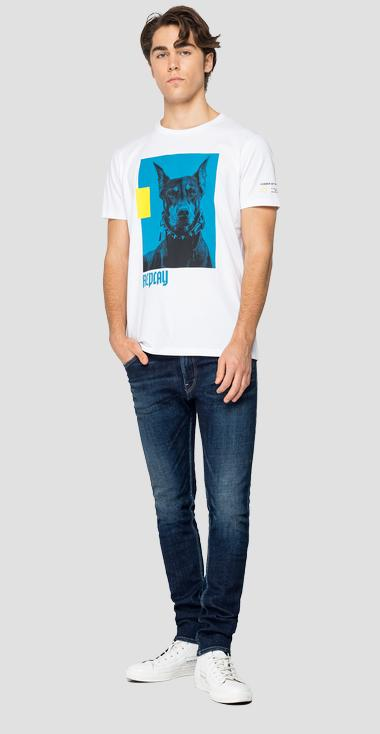 Regular fit t-shirt with print - Replay M3158_000_2660_001_1