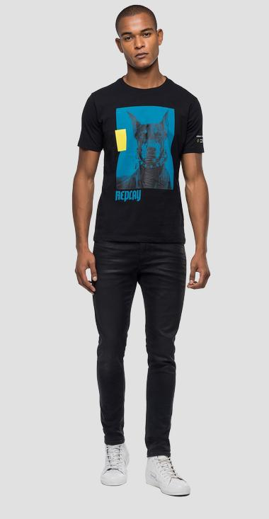 Regular fit t-shirt with print - Replay M3158_000_2660_098_1