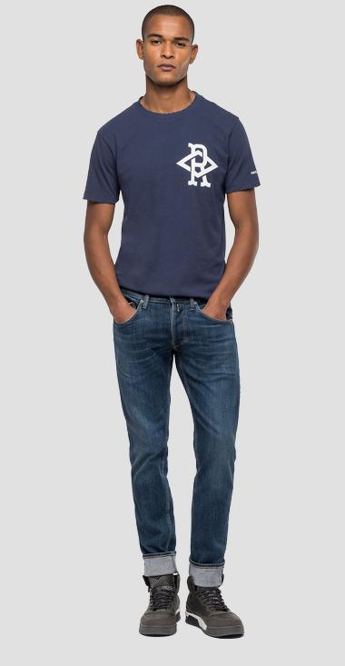 T-shirt with diamond-shaped R logo - Replay M3170_000_22662_285_1