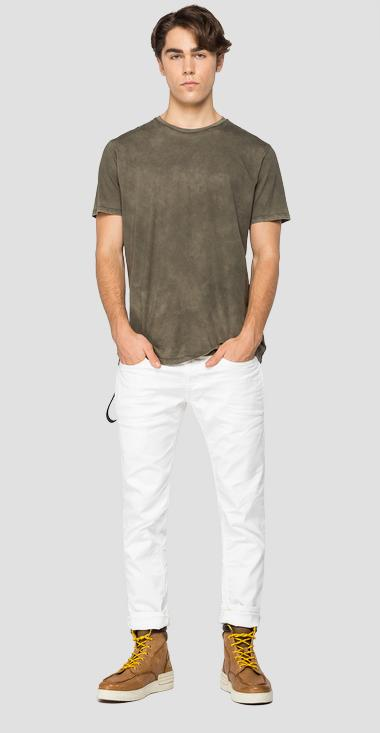 Crewneck t-shirt with faded effect - Replay M3187_000_22326_439_1