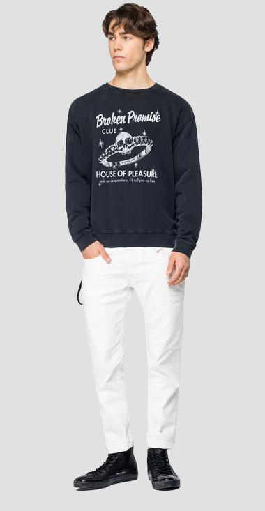 Crewneck sweatshirt with print - Replay M3237_000_22738LM_098_1