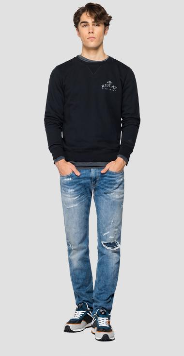 Organic Cotton Sweatshirt REPLAY BLUE JEANS - Replay M3243_000_23040P_397_1