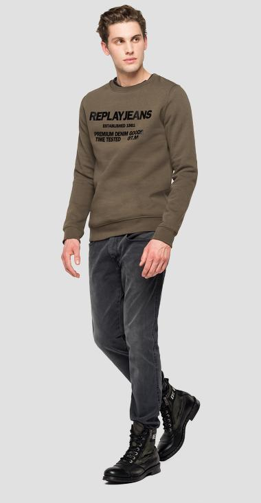 Sweatshirt with REPLAY JEANS print - Replay M3245_000_22706_439_1
